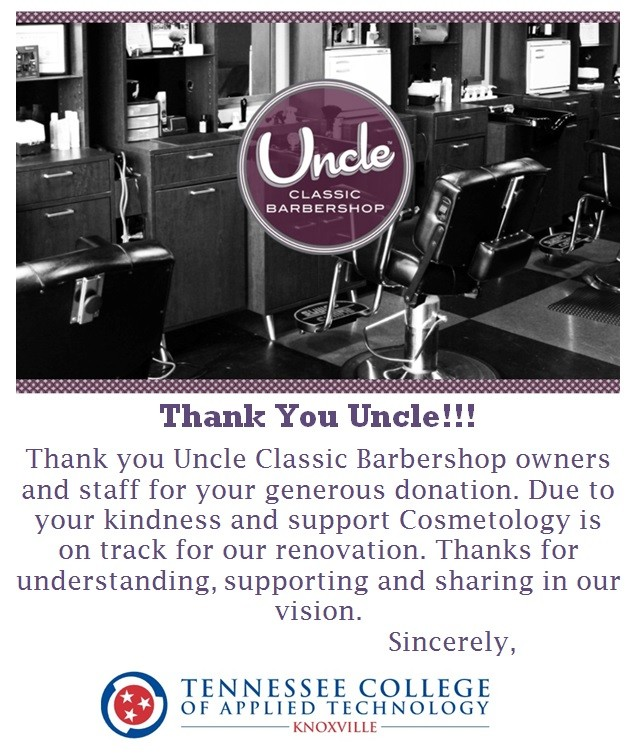 Thank You Uncle Classic Barbershop Tcat Knoxville